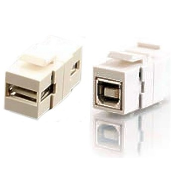USB 2.0 A to B Keystone Insert - Click Image to Close