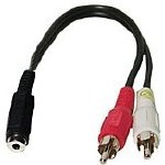 "3"" Audio Y-Splitter Cable"