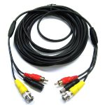 75' Security Camera Cable with Power and RCA Connection