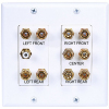 2-Gang 5.1 Surround Sound Distribution Wallplate