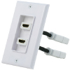 "HDMI Double Wallplate with 3"" Extension Flex - 1.4"