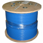 1000ft Solid Shielded F/UTP CAT6a (650MHz) Network Cable - CMR - Blue